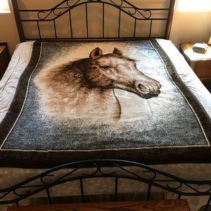 Biederlack America Double Sided Blanket Horse Head